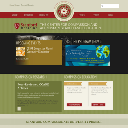 The Center for Compassion and Altruism Research and Education (CCARE)