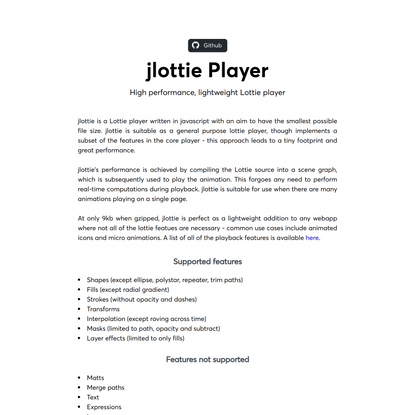 jlottie Player