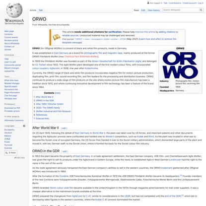 ORWO - Wikipedia