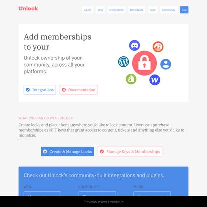 Unlock: The Web's new business model