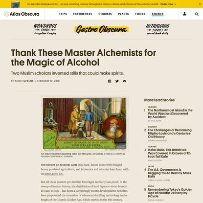 Thank These Master Alchemists for the Magic of Alcohol