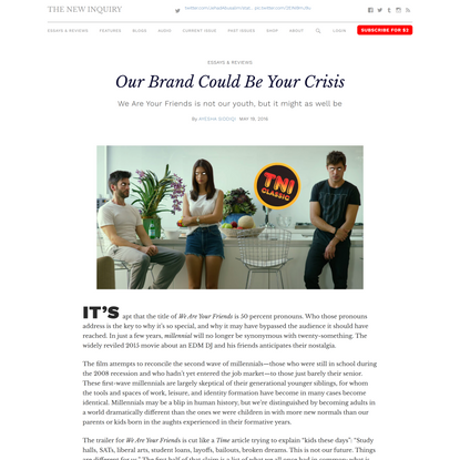Our Brand Could Be Your Crisis