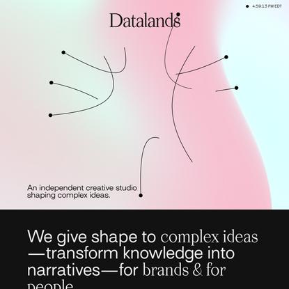 Datalands — Art, Data, Design