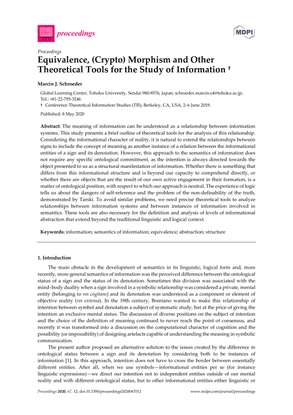 Equivalence, (Crypto) Morphism and Other Theoretical Tools for the Study of Information
