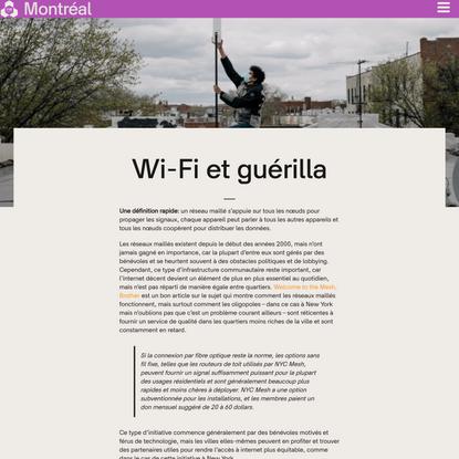 Wi-fi et guérilla - Fab City Montréal