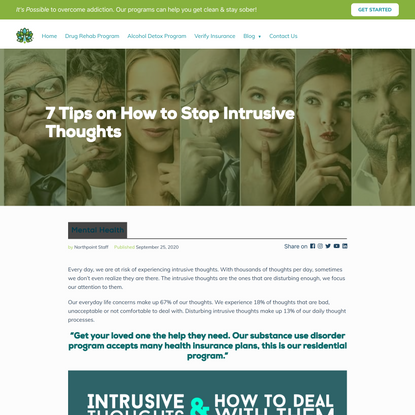 Tips to Help Stop Intrusive Thoughts