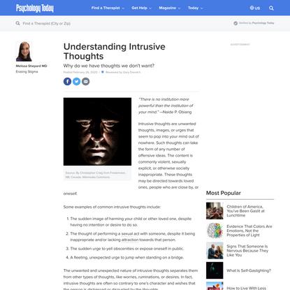 Understanding Intrusive Thoughts