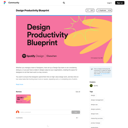 Figma - Design Productivity Blueprint | Whether you manage a team of designers, have set up a Design Ops team or are conside...