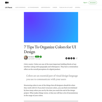 7 Tips To Organize Colors for UI Design