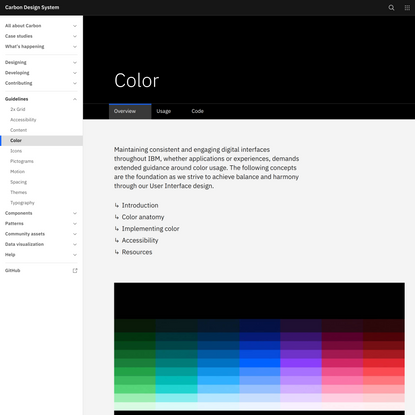 Color – Carbon Design System