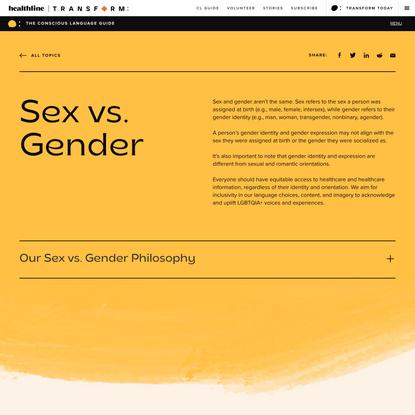 Conscious Language: Sex vs. Gender