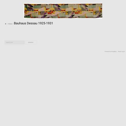 Bauhaus Dessau 1925-1931