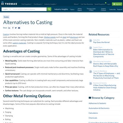 Alternatives to Casting