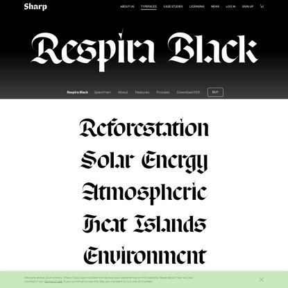 Respira Black Typeface