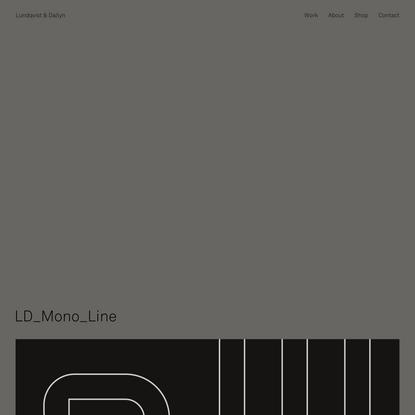 LD_Mono_Line - Lundqvist & Dallyn