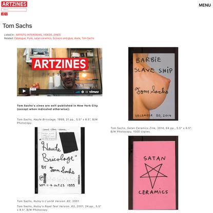 Tom Sachs | Artzines
