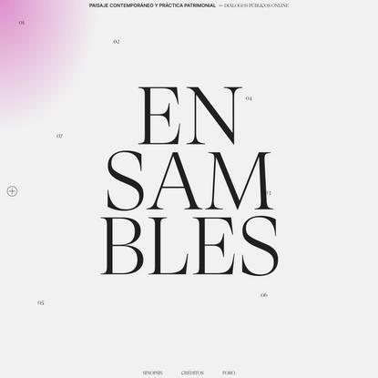 ENSAMBLES - Ensambles