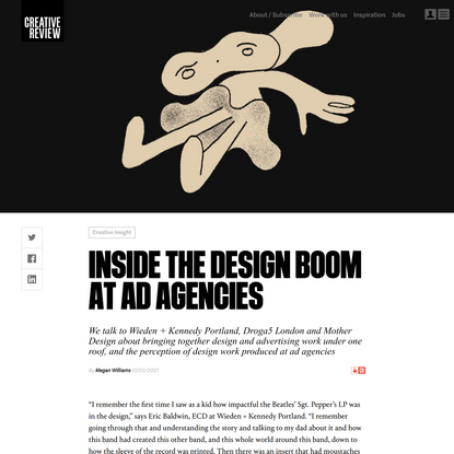 Inside the design boom at advertising agencies
