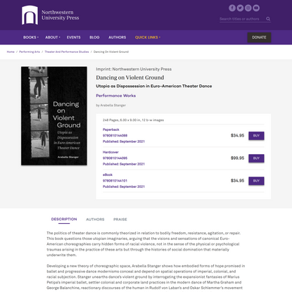 Dancing on Violent Ground - Northwestern University Press