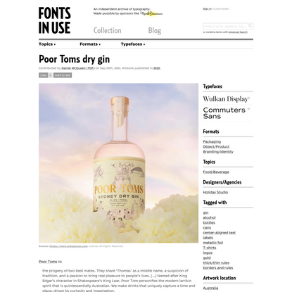 Poor Toms dry gin