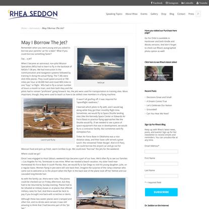 May I Borrow The Jet? - Rhea Seddon