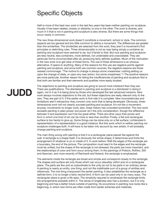 Donald Judd, Specific Objects