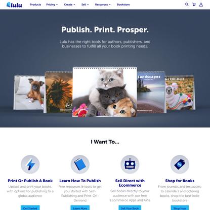 Online Self-Publishing Book & Ebook Company   Lulu