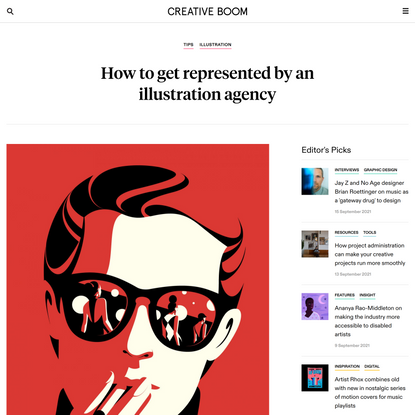 How to get represented by an illustration agency