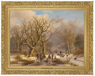 Johann Bernard Klombeck & Eugène Joseph Verboeckhoven, Winter Time, 1872