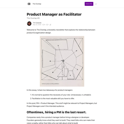 Product Manager as Facilitator