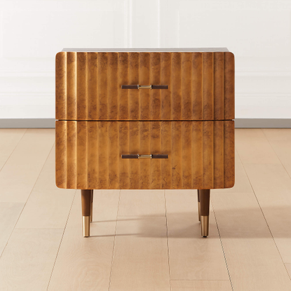 CRIMPED GOLD LEAF NIGHTSTAND