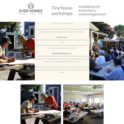 Workshop | Tiny house workshops | New Zealand