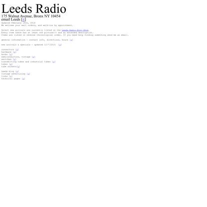 Leeds Radio - since 1923