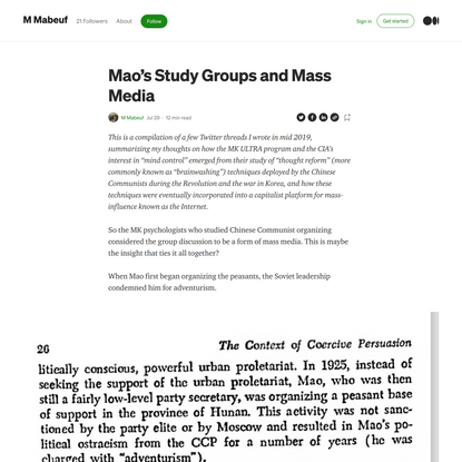 Mao's Study Groups and Mass Media