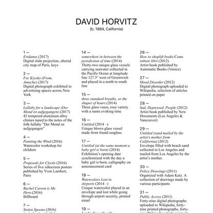 David Horvitz
