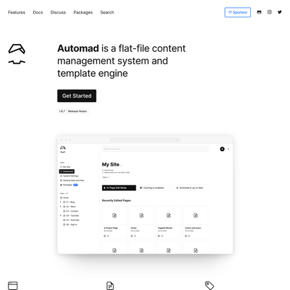 Automad / A Flat-File CMS and Template Engine