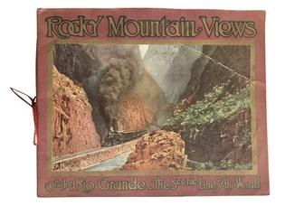 Antique 1914 Souvenir Guide Booklet Rocky Mountain Views of the Rio Grande Pacific Railroads Advertising
