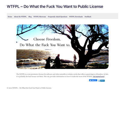 WTFPL — Do What the Fuck You Want to Public License