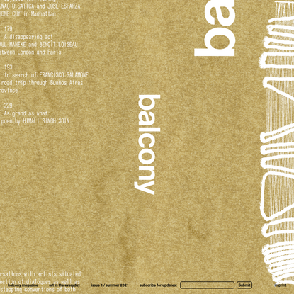 Balcony Magazine