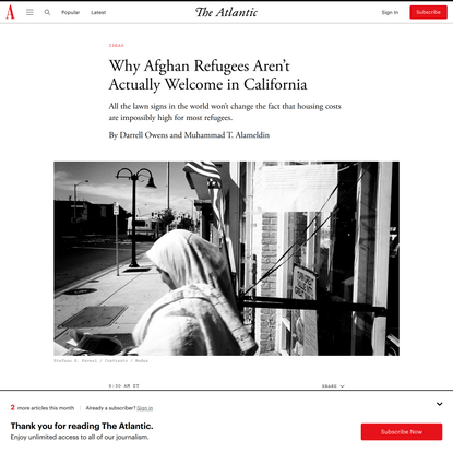 Why Afghan Refugees Aren't Actually Welcome in California