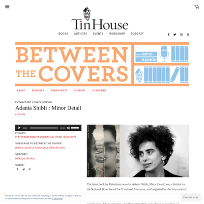 Adania Shibli : Minor Detail | Tin House