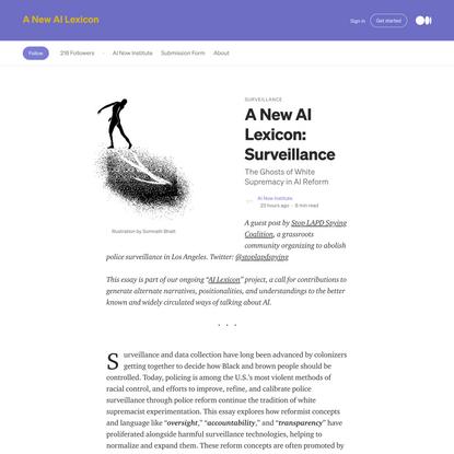 A New AI Lexicon: Surveillance