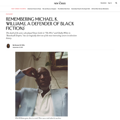 Remembering Michael K. Williams, a Defender of Black Fictions | The New Yorker