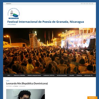 Leonardo Nin (República Dominicana)   FIPGNicaragua 2016