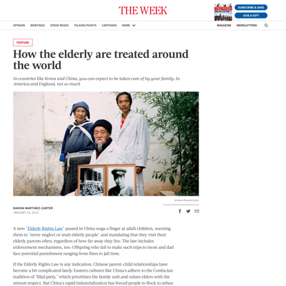 How the elderly are treated around the world