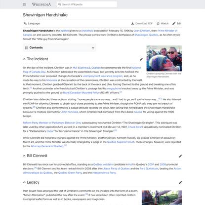 Shawinigan Handshake - Wikipedia