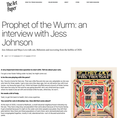 Prophet of the Wurm: an interview with Jess Johnson - The Art Paper