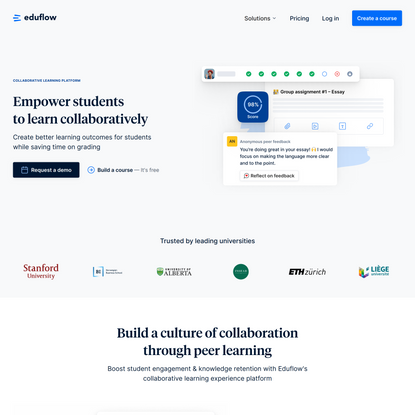 Eduflow · Empower students to learn collaboratively