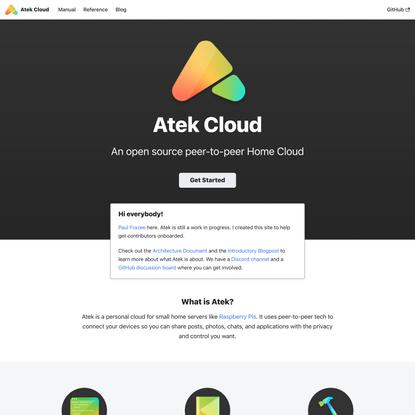 Atek - An open source peer-to-peer Home Cloud | Atek Cloud