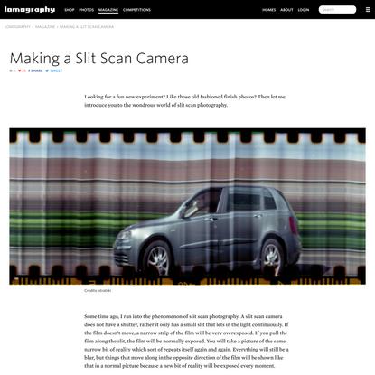 Lomography - Making a Slit Scan Camera